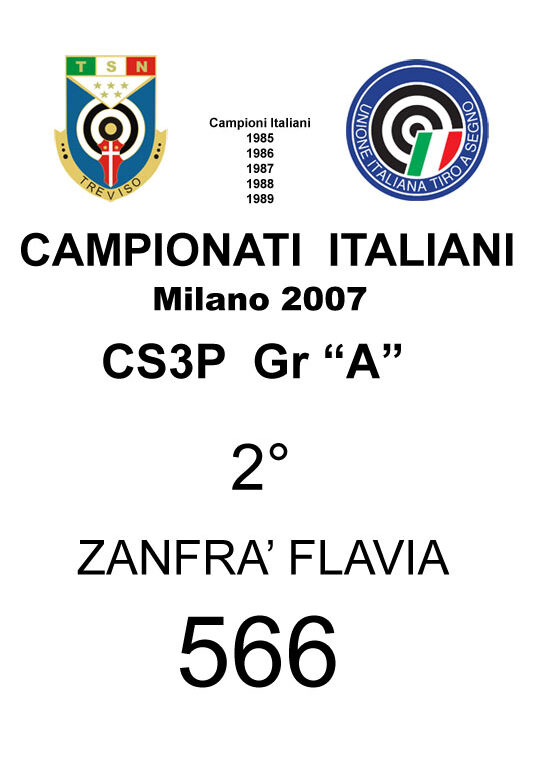 2007 Zanfrà Flavia CS3P