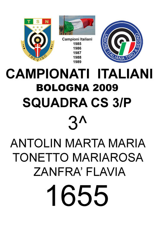 2009 Squadra cs3p MartaMaria Mariarosa Flavia