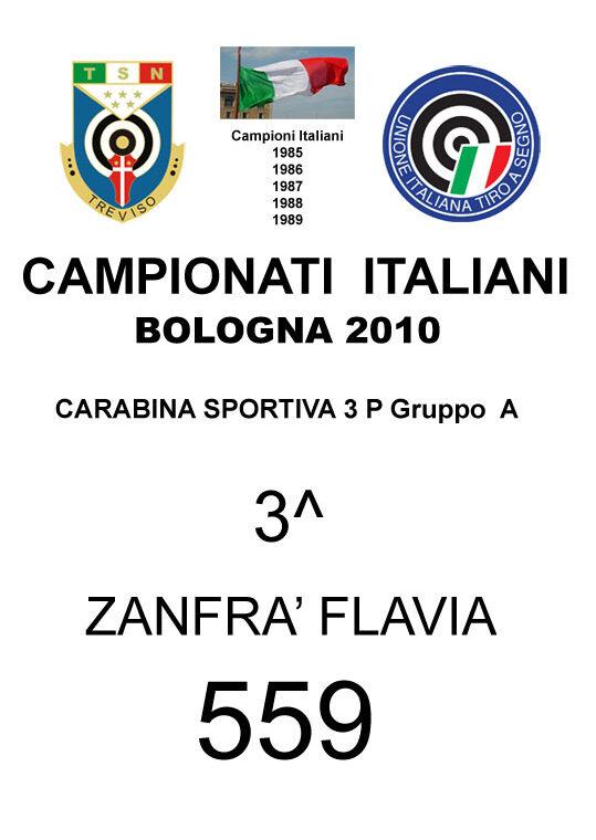 2010 Zanfrà Flavia CS3P