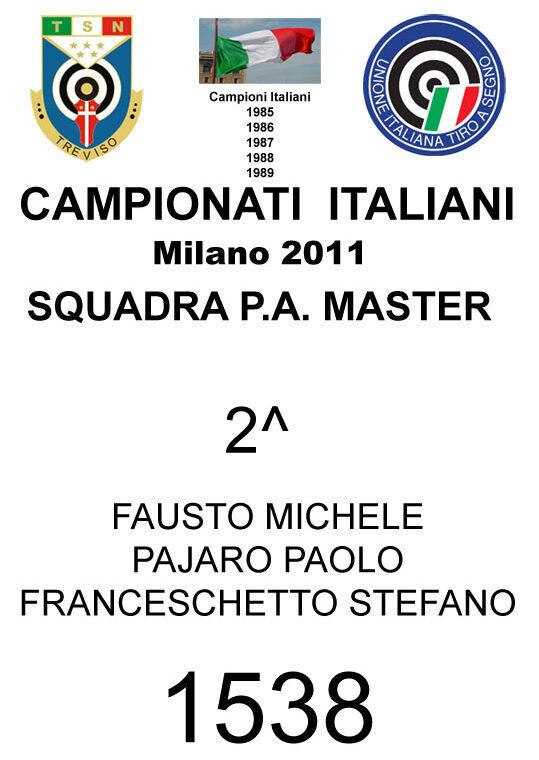 2011 Squadra PA Michele Paolo Stefano