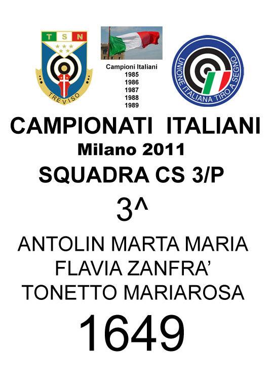 2011 Squadra cs3p    Marta Flavia Mariarosa