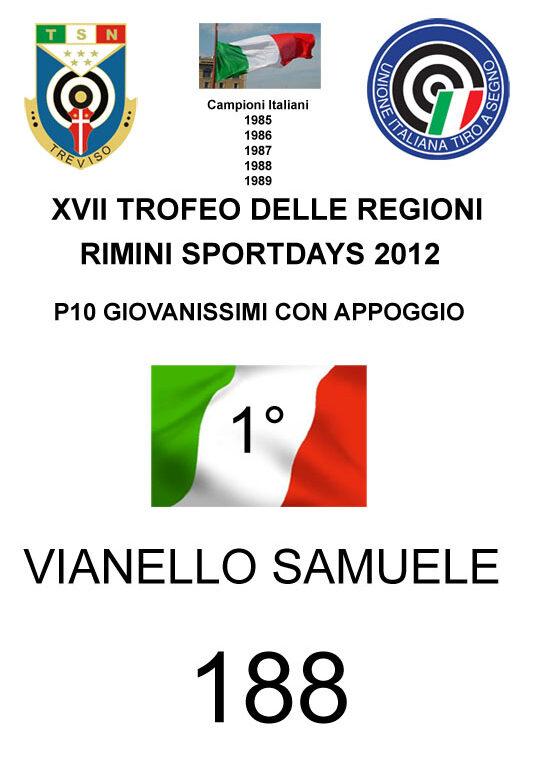 81 Vianello Samuele 2012