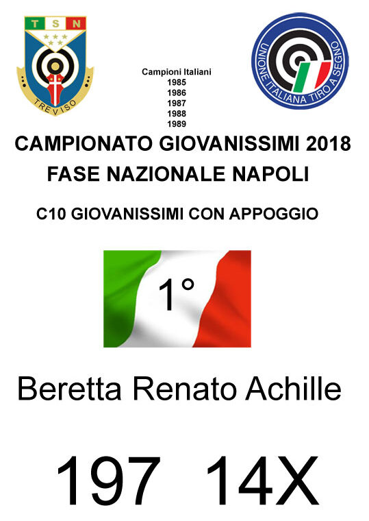 1 Campione italiano 2018 Beretta Achille
